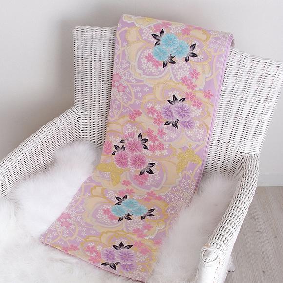 格安!振袖レンタル 成人式  白地ピンクの花 【送料無料】【試着可能】51165