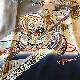 格安!着物・お宮参り レンタル フルセット 初着 男児 G ベージュ/ブルー 【送料往復880円】100005