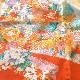 格安!着物・お宮参り レンタル フルセット 初着 女児 B オレンジ゙花とのし 【送料往復880円】200002