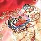 格安!着物・お宮参り レンタル フルセット 初着 女児 E 赤地.鈴 【送料往復880円】200005