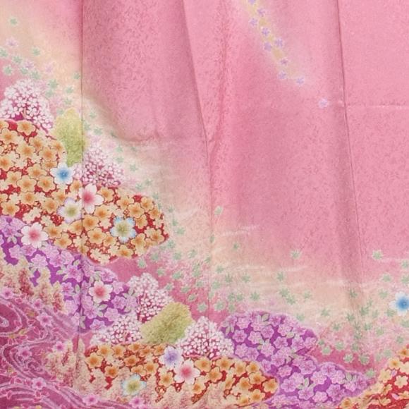 格安!振袖レンタル 成人式 ピンクに絞り 【送料無料】【試着可能】51099
