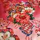格安!着物・お宮参り レンタル フルセット 初着 女児 H ピンク鼓とマリ 【送料往復880円】200008