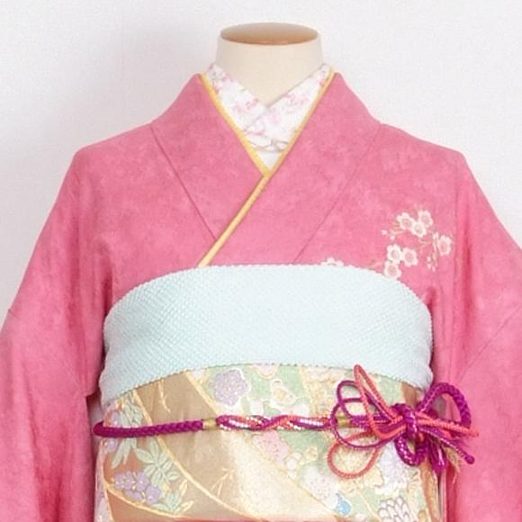 格安!振袖レンタル 成人式 ピンク のしにマリ 【送料無料】【試着可能】51105