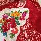 格安!着物・お宮参り レンタル フルセット 初着 女児 L 赤地絞り【送料往復880円】200012