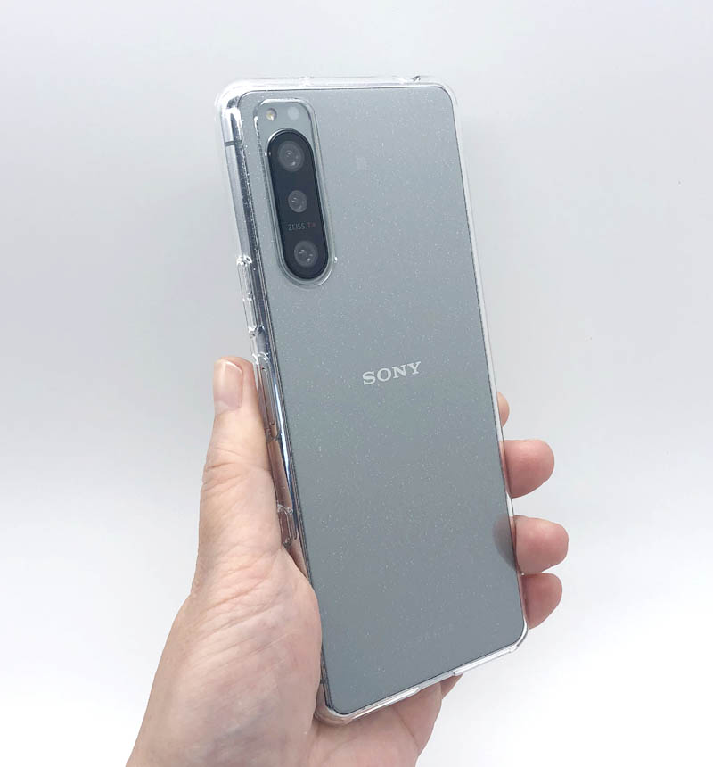 Xperia 5 II トライタンハードケース ラメクリア 5877XP52TR