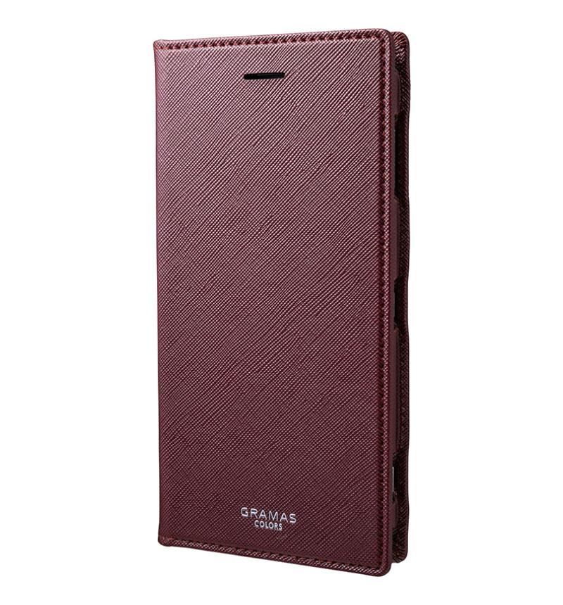 EURO Passione Book PU Leather Case for Xperia XZ2 Premium Wine ワイン CLC-62218WNE