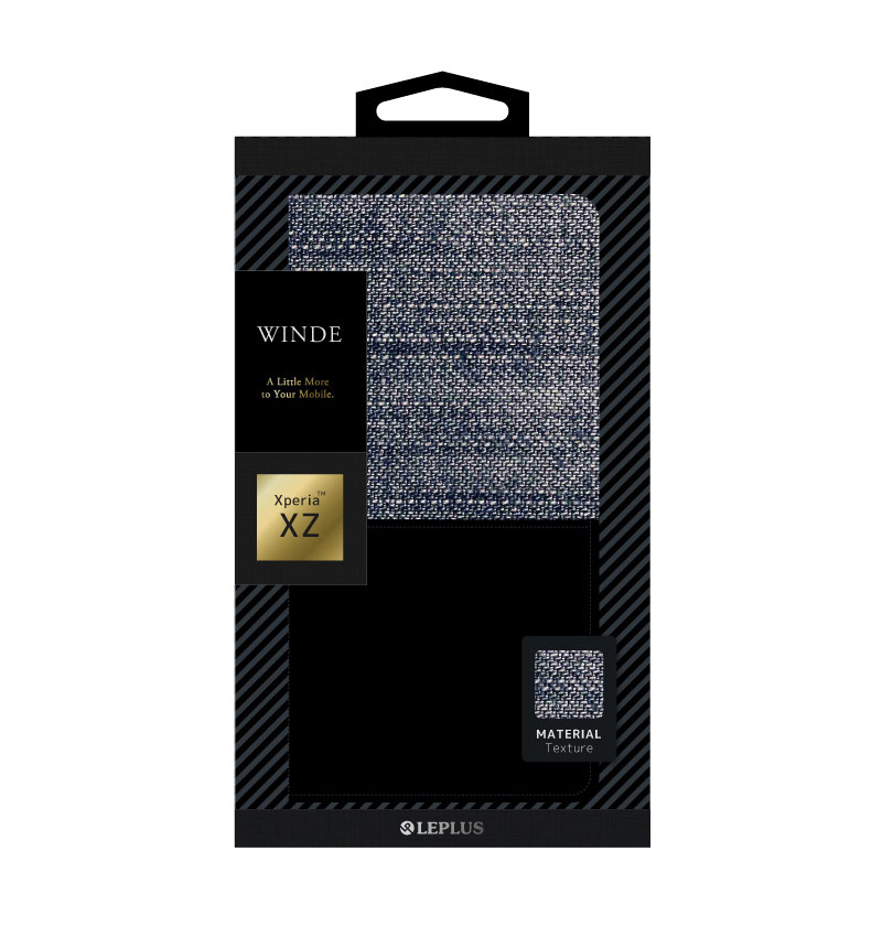 Xperia XZ デニムフラップケース「WINDE」 G (Xperia XZs対応) LP-XPXZFDMG