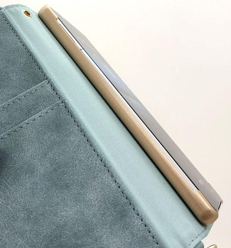 Xperia 1 II 花柄手帳型ケース ライトブルー 5472XP12BO