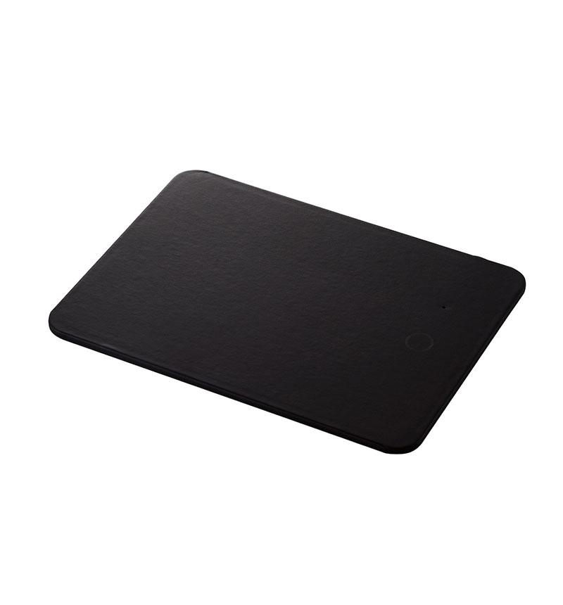 Qi規格対応ワイヤレス充電器付きマウスパッド ブラック MP-WQ01BK