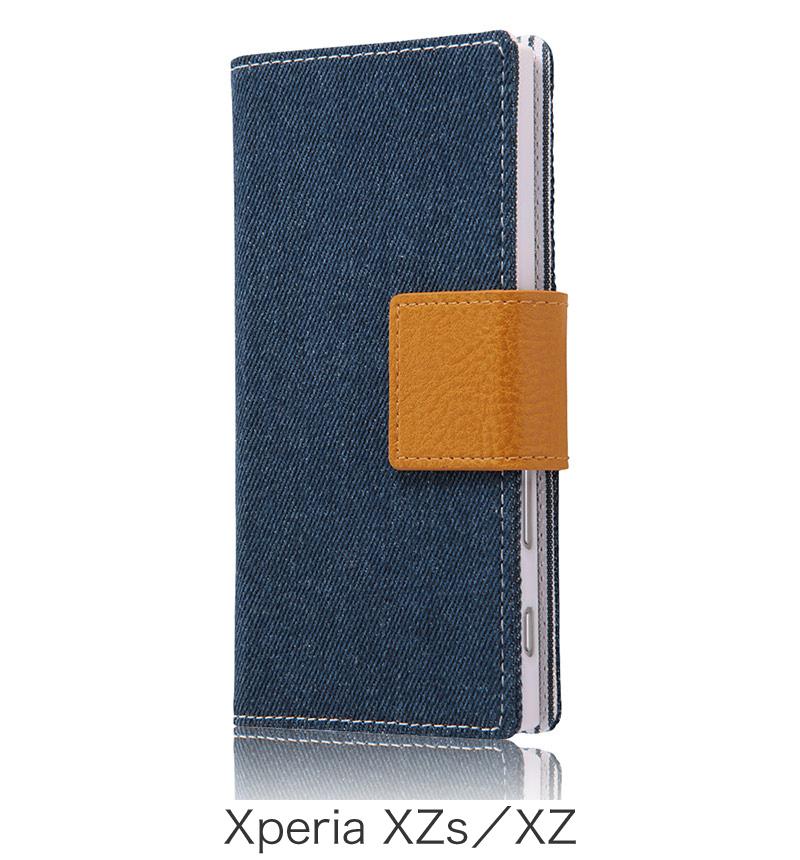 Xperia  XZ用 手帳型ケース ファブリック デニム インディゴブルー (Xperia XZs対応) RT-RXPXZFBC5/IN