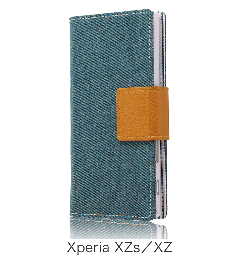 Xperia  XZ用 手帳型ケース ファブリック デニム ライトブルー (Xperia XZs対応) RT-RXPXZFBC5/LA
