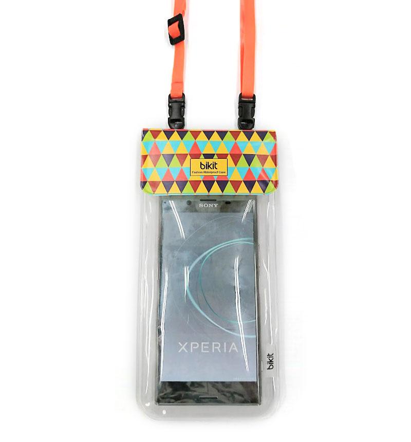 bikit2 スマートフォン用ファッション防水ポーチ トライアングル BK9949