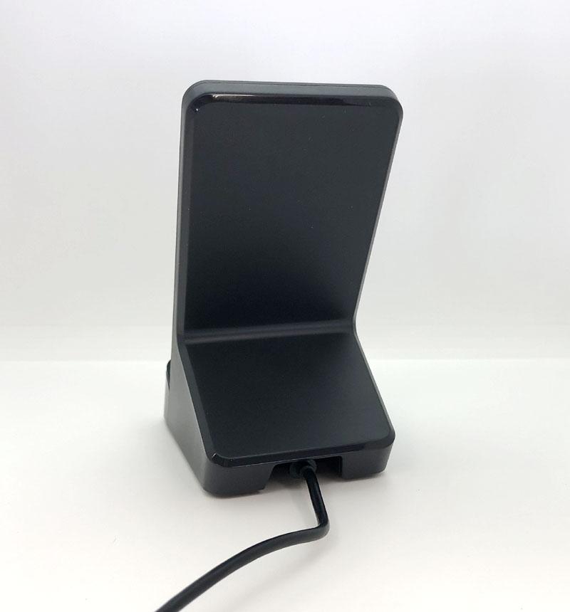 Qi規格対応ワイヤレス充電器(10W/5W・2枚コイルスタンド) ブラック W-QS06BK