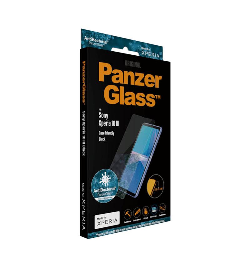 Xperia 10 III/Xperia 10 III Lite 用保護ガラス 全面保護 抗菌 指紋防止 耐衝撃 キズ防止 9H Mohs7.0 ふち色なし クリア 7634