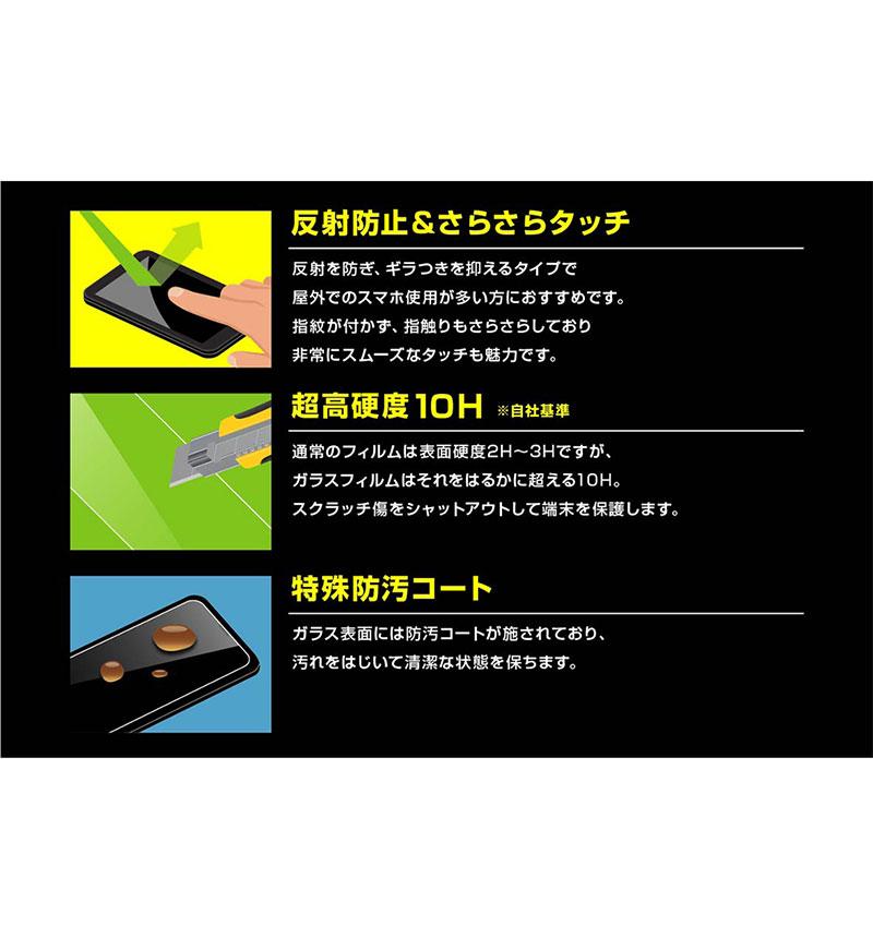 Xperia 1 II ガラスフィルム 防埃 10H 反射防止 ソーダガラス 反射防止 RT-XP1M2F/BSHG