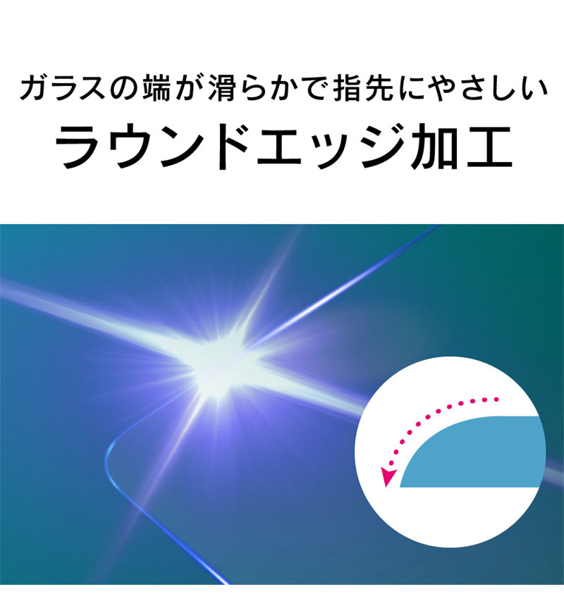 Xperia 1 III フルクリア 反射防止 画面保護強化ガラス クリア TR-XP215-GL-AG