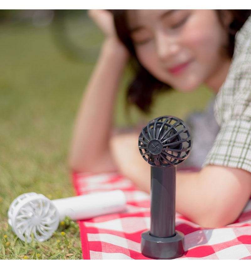 BLUEFEEL 超小型ヘッド ポータブル扇風機 スペースグレー BLF13093