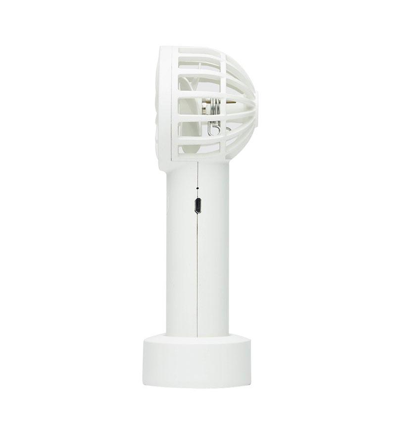 BLUEFEEL 超小型ヘッド ポータブル扇風機 スノーホワイト BLF13094