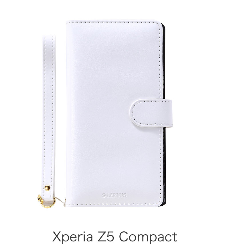 Xperia Z5 Compact ブックタイプPUレザーケース「BOOK A」 ホワイト LP-XPZ5CLBWH