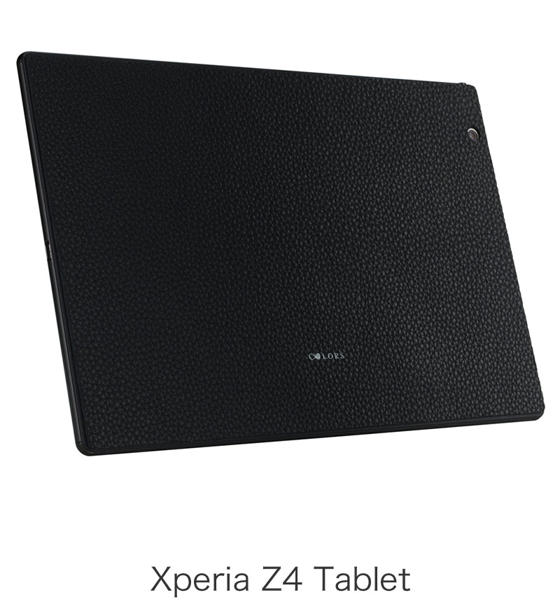 THE LEATHER SKIN The Surface Collection for Xperia Z4 Tablet Emboss Black EPA25-004LEBK
