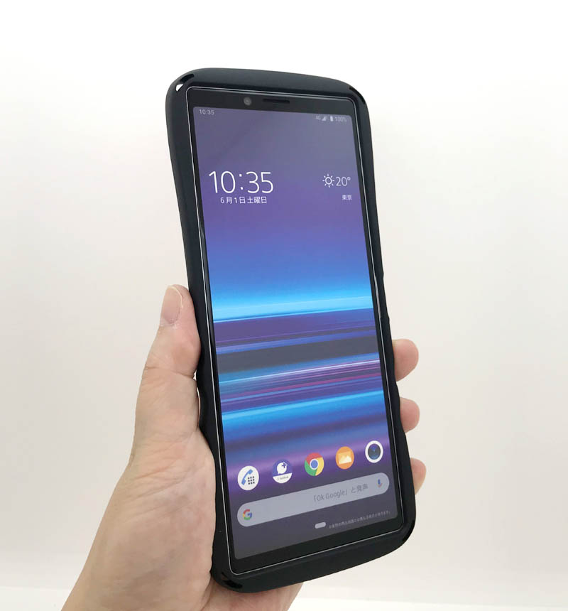 Xperia 1 耐衝撃ケース Curve ペールピンク RT-RXP1SC4/PP