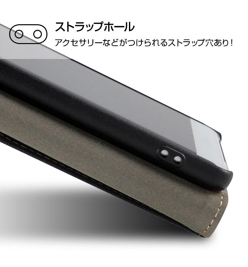Xperia XZ2 手帳 ファブリック 帆布 ネイビー RT-RXZ2FBC2/N