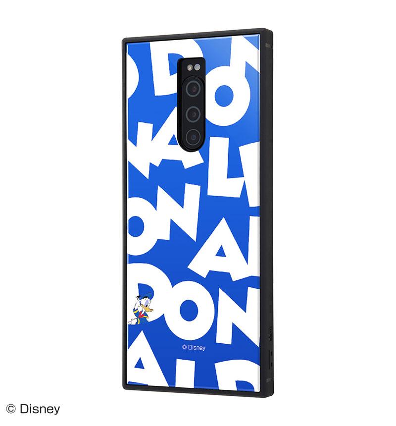 【現品特価】Xperia 1 /『ディズニーキャラクター』/耐衝撃ケース KAKU トリプルハイブリッド 『ドナルドダック/I AM』 IQ-DXP1K3B/DD003