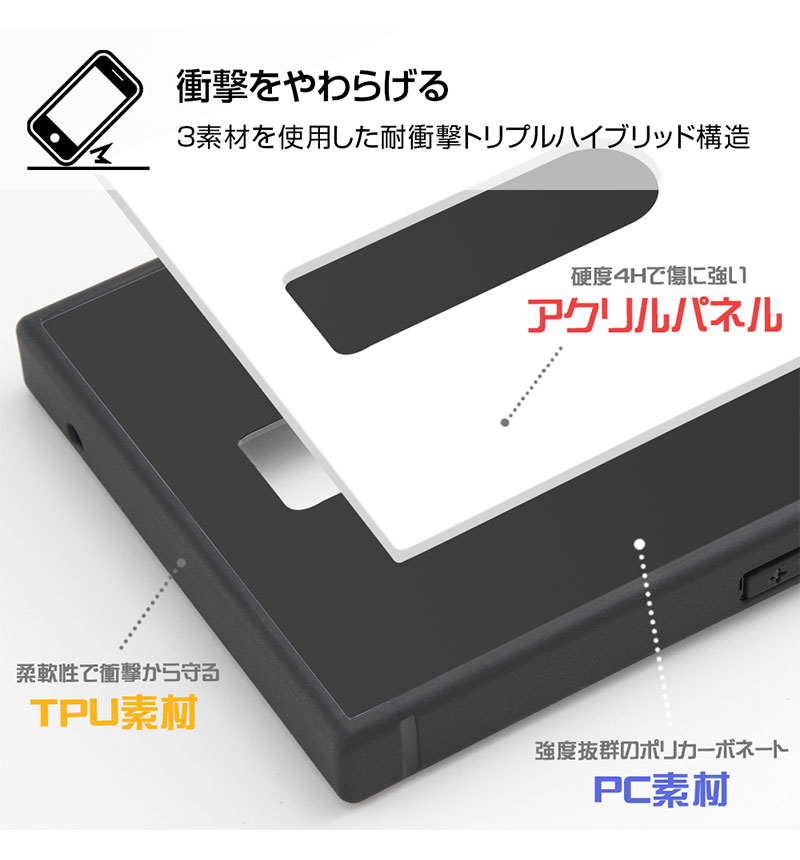 Xperia 1 /『ディズニーキャラクター』/耐衝撃ケース KAKU トリプルハイブリッド 『ミニーマウス/I AM』 IQ-DXP1K3B/MN006