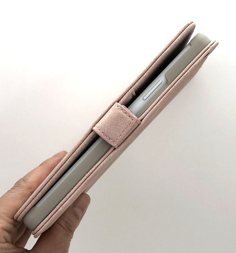 Xperia 10 II 手帳型ケース VIVIANA H スウェード調 ライトピンク 5491XP102BO