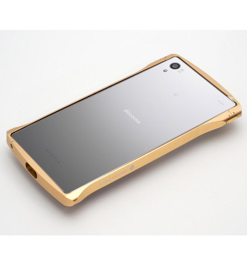 Cleave Aluminum Bumper Chrono for Xperia Z5 Premium Gold プレミアムゴールド DCB-XZ5PA6GD
