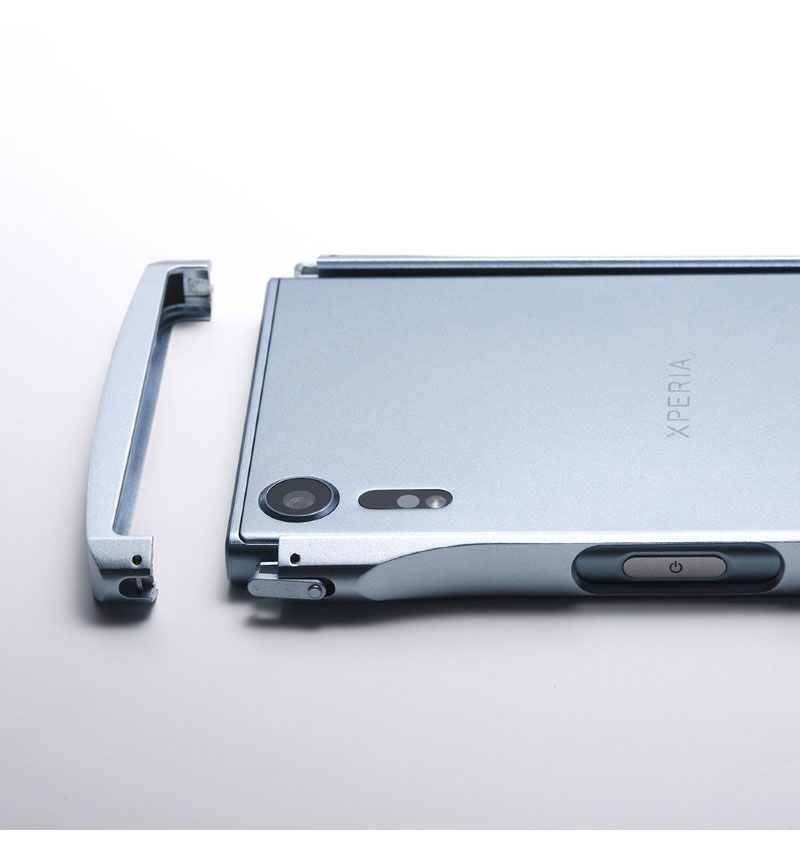 CLEAVE Aluminum Bumper Chrono for Xperia XZs アイスブルー DCB-XZSCHABU