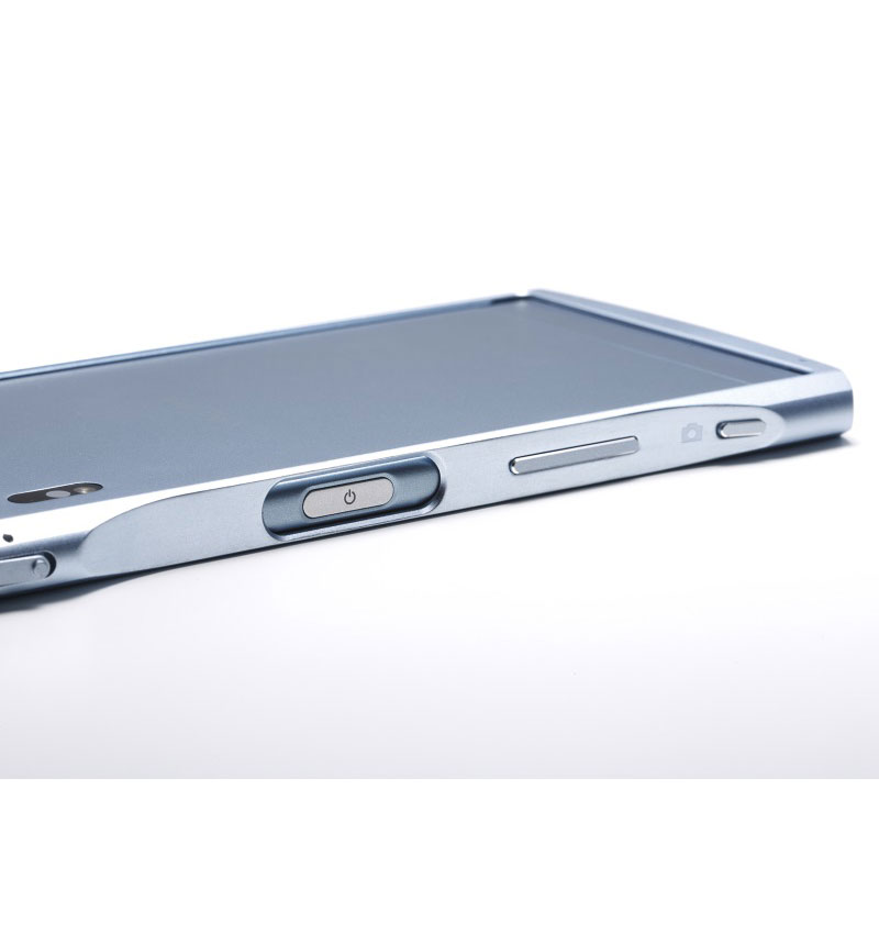 CLEAVE Aluminum Bumper Chrono for Xperia XZs ウォームシルバー DCB-XZSCHASV