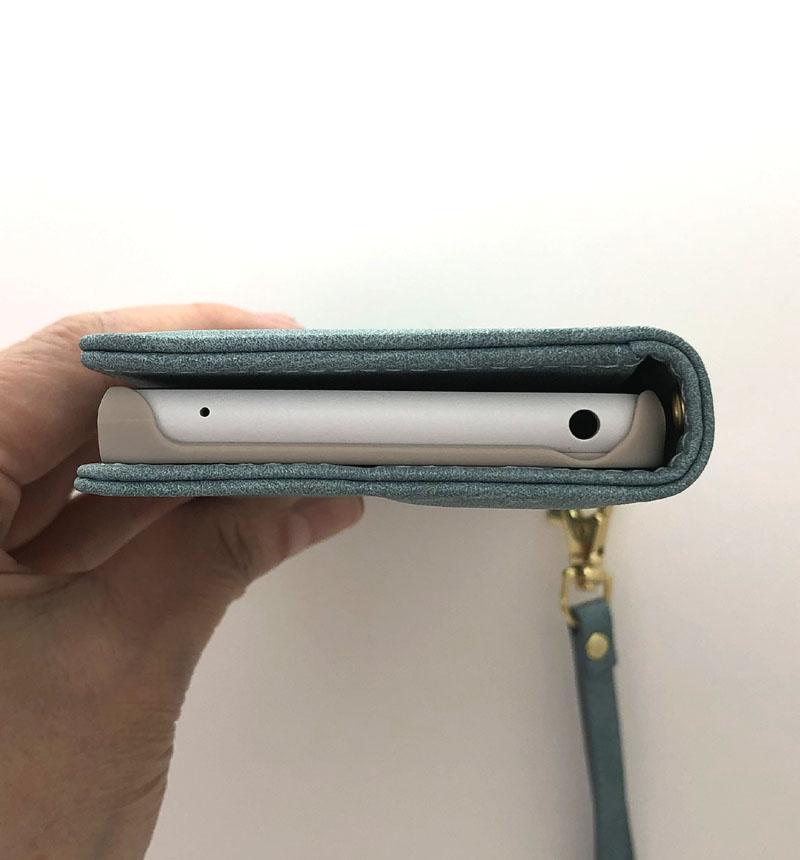 Xperia 10 II 手帳型ケース VIVIANA H スウェード調 ライトブルー 5493XP102BO