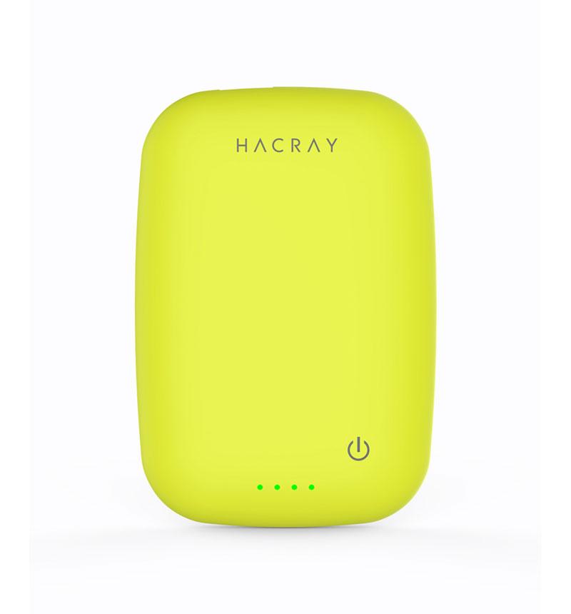 ワイヤレス充電器+モバイルバッテリー Cable-Free Mobile Battery イエローグリーン HR11681