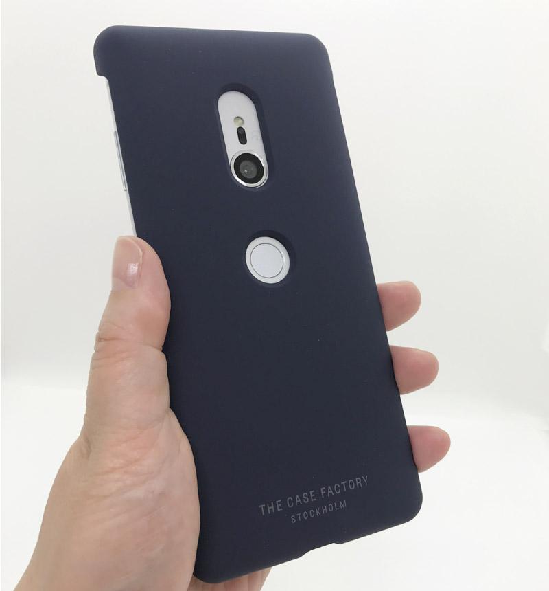 Xperia XZ3 Silicon Navy 201879-SX ネイビー 201879-SX