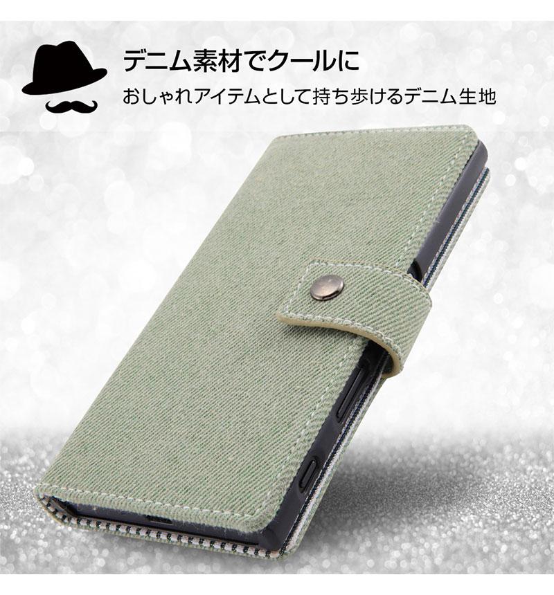 Xperia XZs 手帳型 ファブリック デニム ポケット インディゴブルー RT-RXZSFBC6/IN
