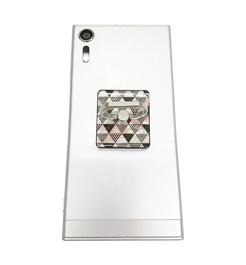 天然貝スマートリング ピラミッド I11070