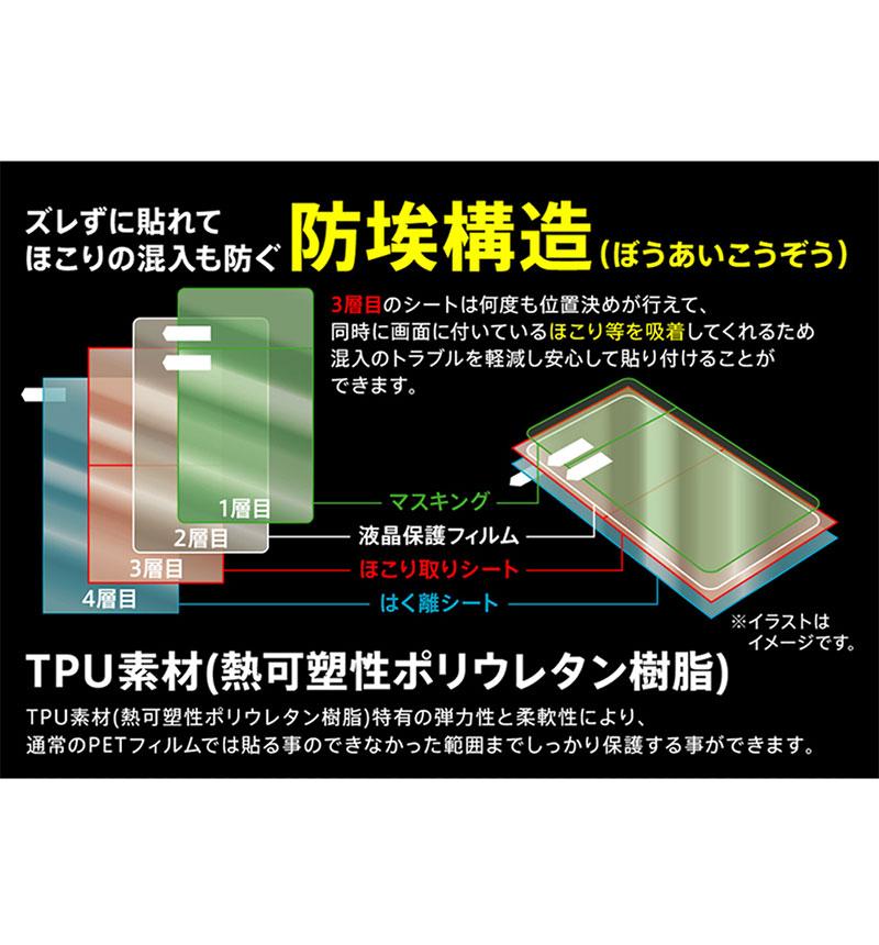 Xperia 10 II フィルム TPU 反射防止 フルカバー 衝撃吸収 反射防止 RT-RXP10F/WZH