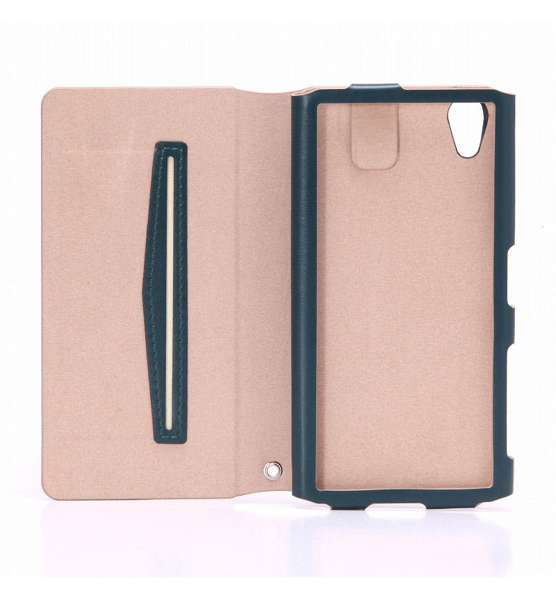 Xperia X Performance 【+U】James/One Sheet of Leather case ダークグリーン LP-XPXPLFJGR