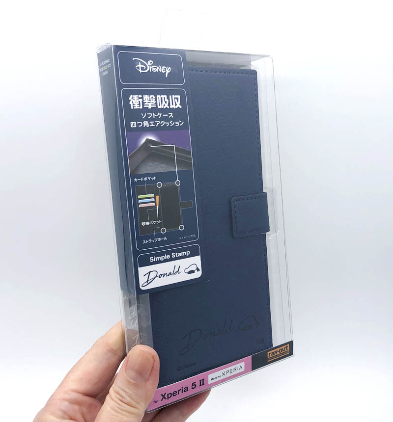 Xperia 5 II 『ディズニーキャラクター』/耐衝撃 手帳型レザーケース 『ドナルドダック』 RT-RDXP5M2TBC8/DD2