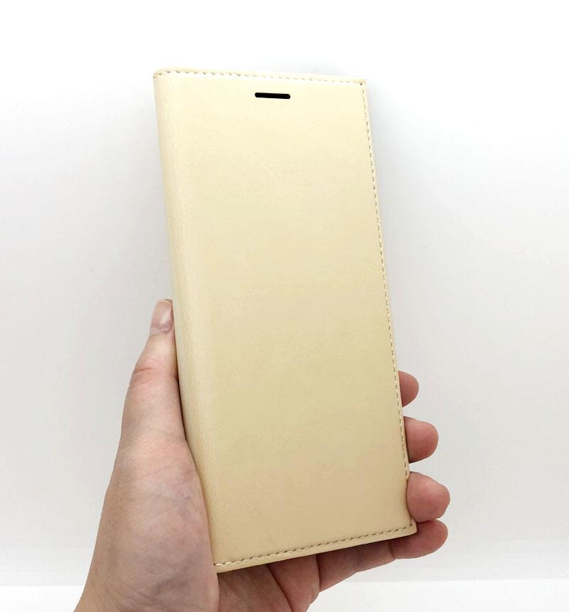 Xperia 8 SOV42 薄型PUレザーフラップケース「PRIME」 ベージュ ベージュ LP-19WX2PRICA