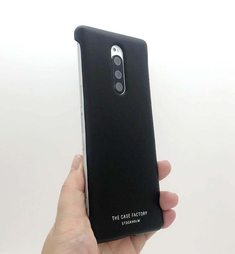 Xperia1 STREET COLLECTION レザーカバー Nappa ブラック 201824-SX1 ブラック 201824-SX1