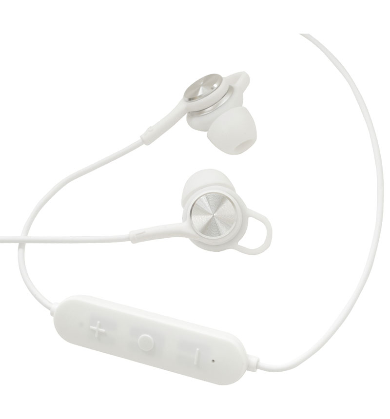 Bluetooth5.0 AAC対応 ステレオイヤホンマイク スイッチ付き WH ホワイト RBTESMS02WH