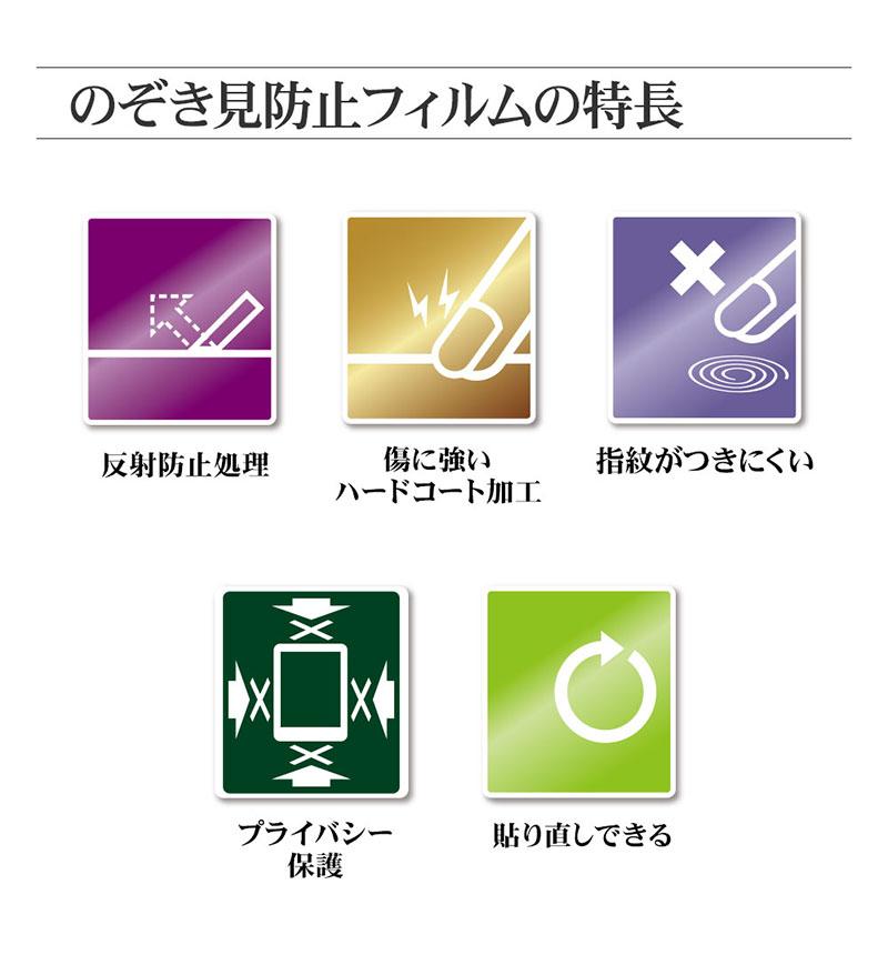 Xperia 10 II 覗き見防止フィルム/クリア K2358XP102