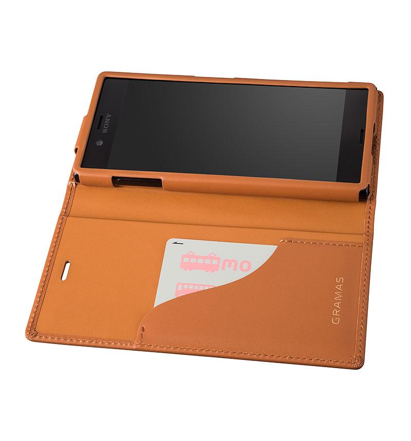 Full Leather Case for Xperia Z5 Tan タン(茶) GLC6116TA