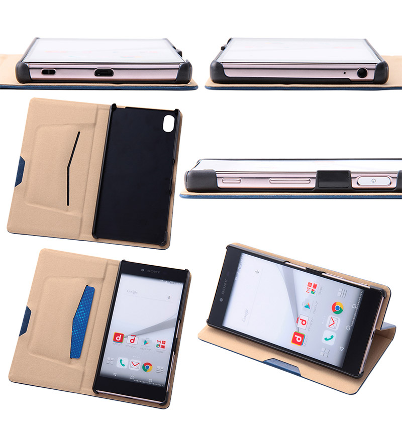 Xperia  Z5 Premium スマートブックレザーケース(合皮) レッド RT-RXPH3MLC1/R