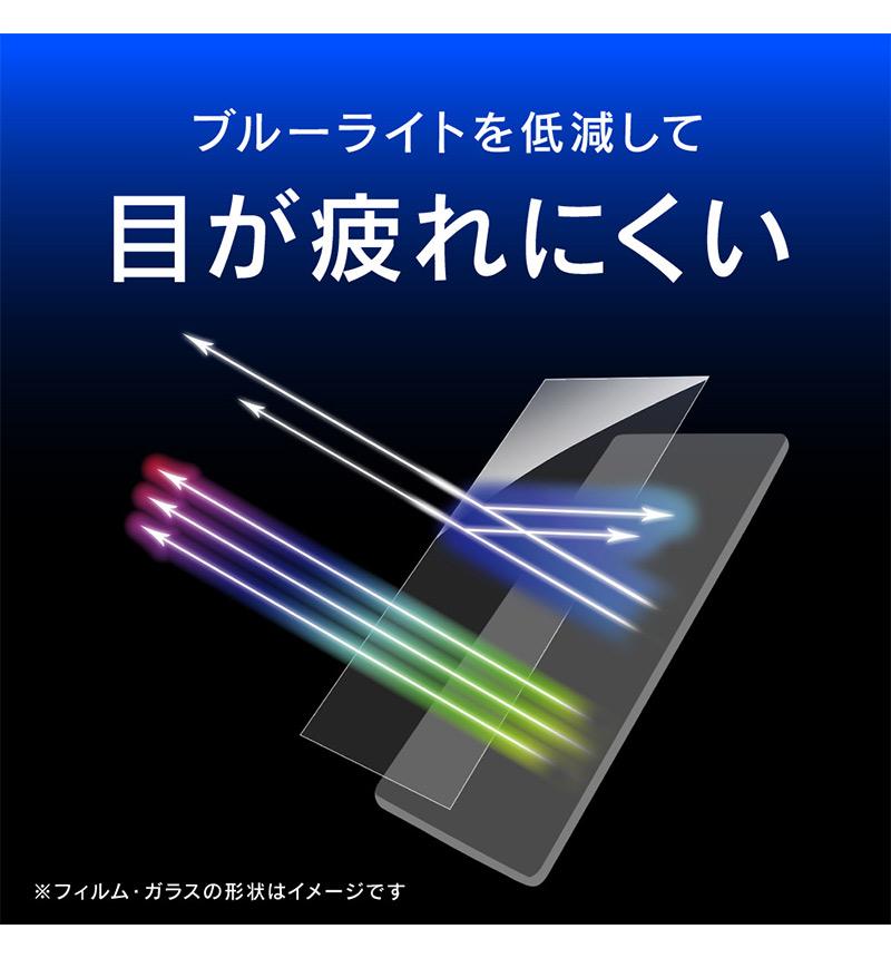 Xperia 10 III/Xperia 10 III Lite 衝撃吸収&ブルーライト低減 画面保護フィルム 光沢 クリア TR-XP213-PF-SKBCCC