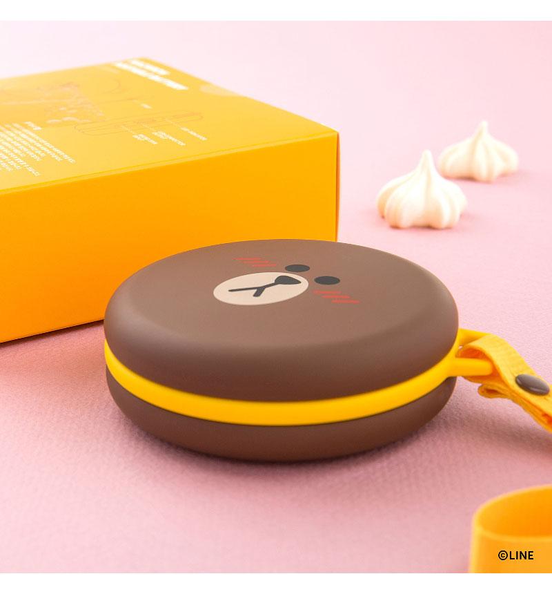 LINE FRIENDS マカロンモバイルバッテリー(5200mAh) ブラウン KCL-LPB001