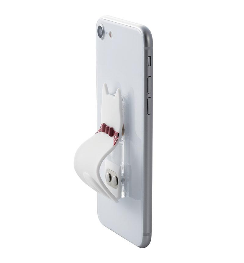 スマートフォン用ストラップ/スマホバンド/アニマル/白犬 白犬 P-STBAMBD3
