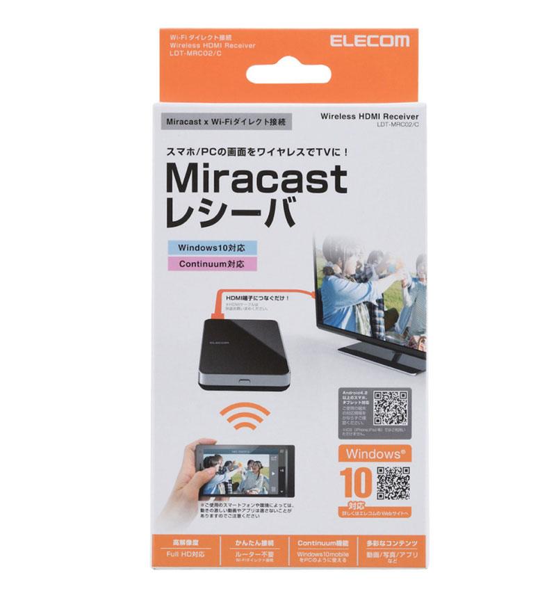 Miracastレシーバ ブラック LDT-MRC02/C